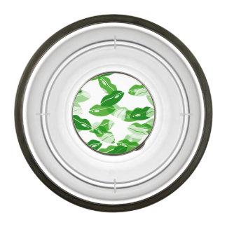 Green Kiss Me I'm Irish Lips Design Pet Bowl