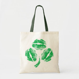 Green Kisses Shamrock Tote Bag