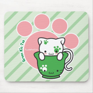 Green Kit-Tea mousepad