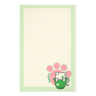 Green Kit-tea Stationery