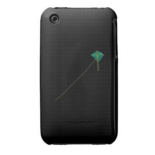 Green Kite iPhone 3 Case-Mate Cases