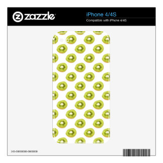 Green Kiwi Seamless Pattern Decals For The iPhone 4
