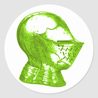 Green Knight Medieval Creative Anachronisms Classic Round Sticker