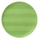 Green Knit Dinner Plates