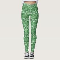 green Knit Jumper Sweater Pattern Leggings