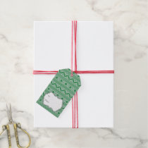 Green Knit Jumper ugly Sweater Pattern Gift Tags