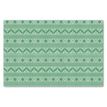 Green Knit Jumper ugly Sweater Pattern Tissue Paper