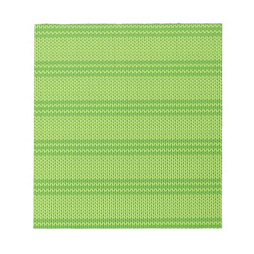 Green Knit Memo Pad
