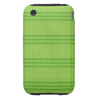 Green Knit Tough iPhone 3 Cases