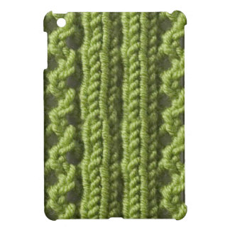 Green Knitted Print Savvy Glossy iPad Mini Case