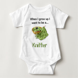 Green Knitter - When I Grow Up I want to be a... Tee Shirt