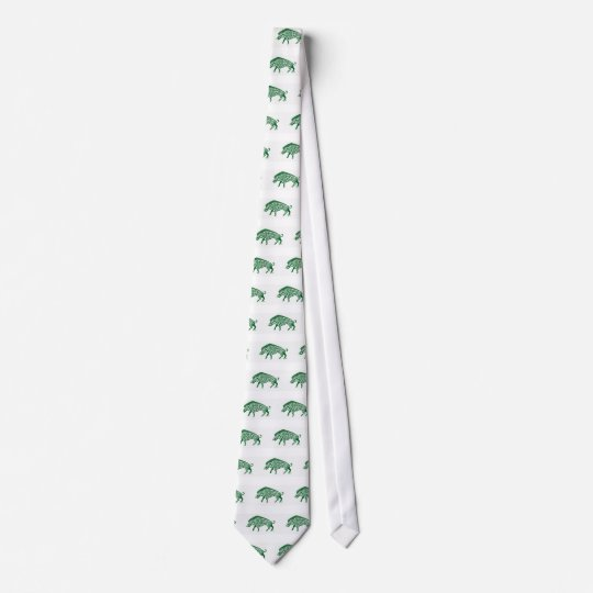 Green Knotwork Boar Tie