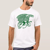 Green Knotwork Dragon on White