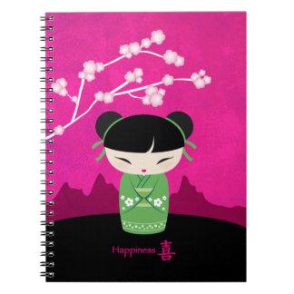 Green kokeshi notebook