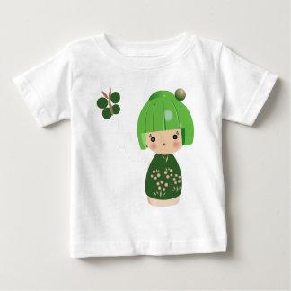 Green Kokeshi Triplet Baby Tee