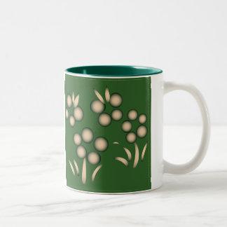 Green Kokeshi Triplet Kimono Design Mug