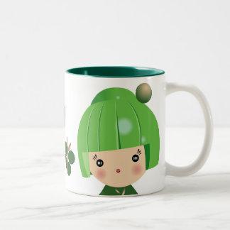 Green Kokeshi Triplet Mug