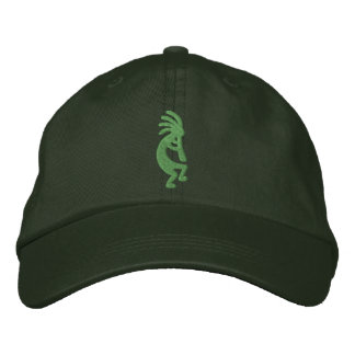 Green Kokopelli Embroidered Hat