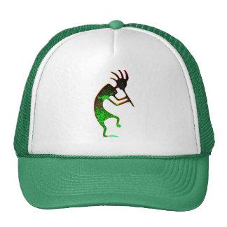 green kokopelli hat