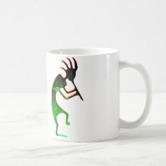 green kokopelli mug