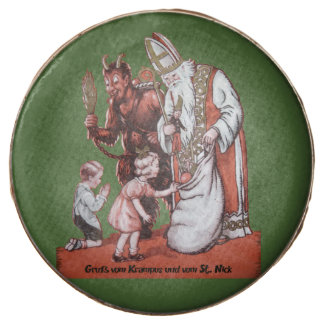 Green Krampus and St. Nick Cookies