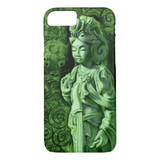 Green Kuan Yin Buddha with Dragon iPhone 7 Case