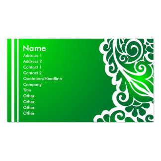 green lace_3 business card template