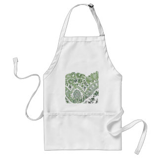 Green Lace Adult Apron
