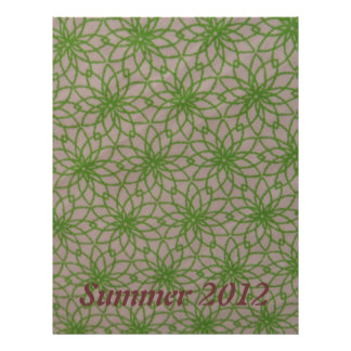 Green Lace Custom Scrapbook Paper Personalized Letterhead