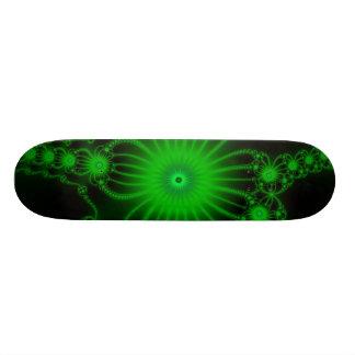 Green Lace Flowers Skateboard