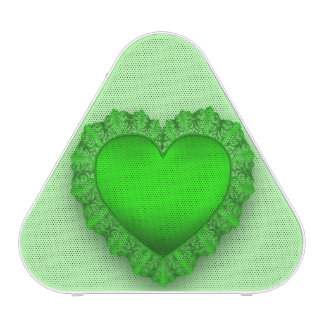 Green Lace Heart Customizable Speaker