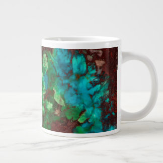 Green Laced Shattuckite Giant Coffee Mug