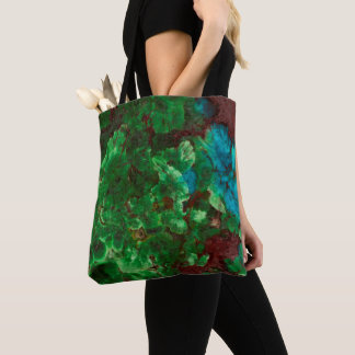Green Laced Shattuckite Tote Bag