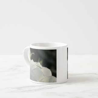 Green Lacewing on White Rose Espresso Cup