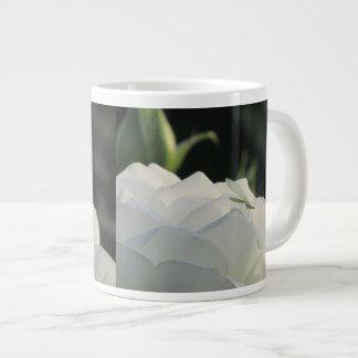 Green Lacewing on White Rose Giant Coffee Mug