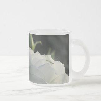 Green Lacewing on White Rose Mug