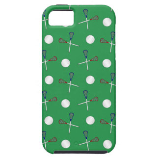 Green lacrosse pattern iPhone 5 covers