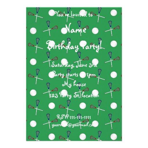 Green lacrosse pattern cards