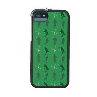 Green lacrosse silhouettes iPhone 5 covers