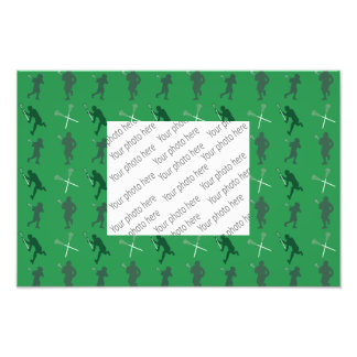 Green lacrosse silhouettes photo art