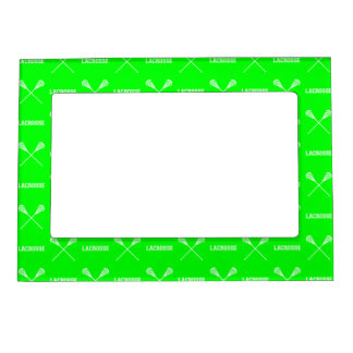 Green Lacrosse Sticks Magnetic Picture Frame