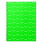 Green Lacrosse Sticks Notebook
