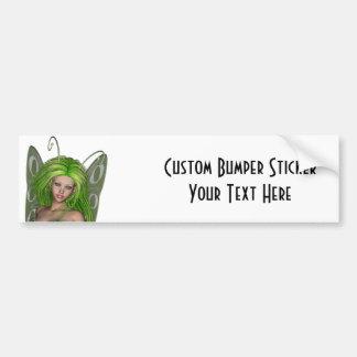 Green Lady Fairy 1 - 3D Fantasy Art - Bumper Stickers