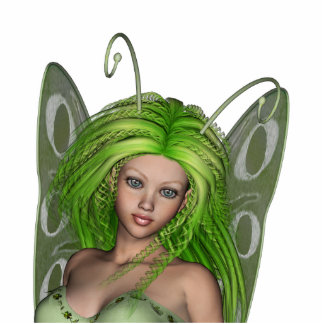 Green Lady Fairy 1 - 3D Fantasy Art - Standing Photo Sculpture