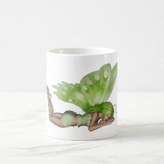 Green Lady Fairy 3 - 3D Fantasy Art - Coffee Mugs