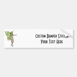 Green Lady Fairy 5 - 3D Fantasy Art - Bumper Sticker