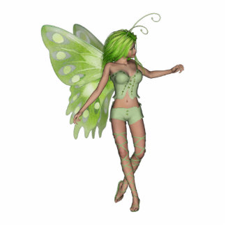 Green Lady Fairy 5 - 3D Fantasy Art - Standing Photo Sculpture