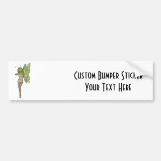 Green Lady Fairy 6 - 3D Fantasy Art - Bumper Stickers