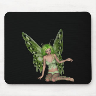 Green Lady Fairy 7 - 3D Fantasy Art - Mouse Pad