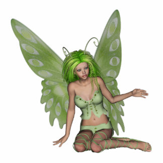 Green Lady Fairy 7 - 3D Fantasy Art - Standing Photo Sculpture